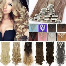US Long Beauty Full Head Clip In Hair Extensions Hair Extension As Human Hair Ty