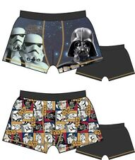2 Pack Boys Star Wars EP4 Boxer Shorts Boxers 3-4 5-6 7-8 9-10 Years