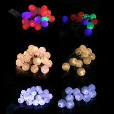 10/20LED Cotton Ball Battery String Light Holiday Wedding Party Christmas Decor