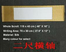 """Empty Blank Chinese Japan Calligraphy Painting Silk Horizontal Wall Scroll 45"""""""