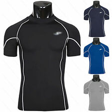 Mens Compression Quick Dry Tight Base Layer Undershirt Short Sleeve T-Shirt Tops
