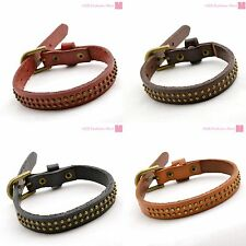 Leather Fashion Bracelet With Buckle Wrap Punk Wristband Bangle Man/Woman New