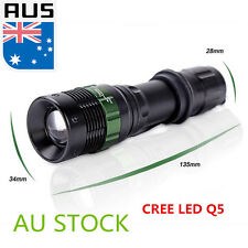 3000LM CREE LED Q5 Zoomable Waterproof Super Bright Flashlight Torch Lamp 5 Mode