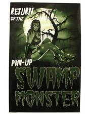 Too Fast Pinup Swamp Monster Poster Psychobilly Rockabilly Goth Punk Retro Glam