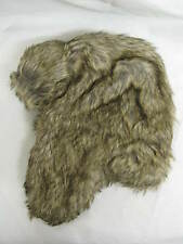 Ladies Unbranded Brown Faux Fur Trapper Hat with Press Stud Fastening