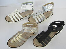 GIRLS SPOT ON GLADIATOR SANDALS WITH RIPTAPE STRAP (4 COLOURS) STYLE H0131