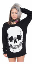 Iron Fist Death Breath Sweater Black Cozy Long Sleeve 100% Acrylic Knit