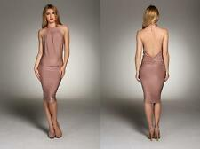 BNWT HONOR GOLD New £65 Club Party Bandage Bodycon Backless Prom Sexy Dress
