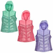 Free Country Ultra Lightweight Down Quilted Vest for Girls - Hooded - Power Down
