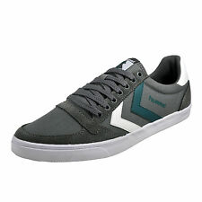 Hummel Slimmer Stadil Duo Lo Mens Classic Casual Retro Trainers Grey