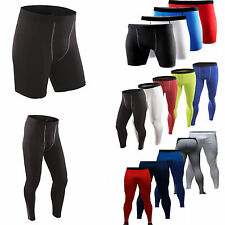 Mens Compression Shorts Base layer Under Athletic Sports GYM Tight Pants Bottoms