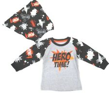 Super Hero Time Boys T-Shirt With Cape Halloween Costume Infant 12 18 24 Months