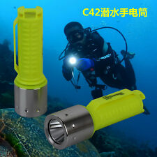 2017 LED Diving Flashlight Diving Torch Light Underwater Diving Flashlight Torch