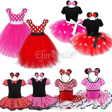 Kids Girls Baby Toddler Minnie Mouse Party Costume Dress Up Ballet Tutu Dress
