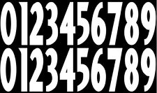 Set of Full Sized OR Replica Mini Size Helmet Number Decals for Baltimore Raven