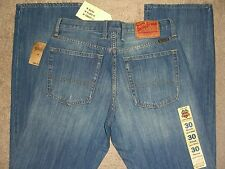 LUCKY BRAND 165 Straight Leg Mid Rise Relaxed Blue Denim Jean Mens Sz 30 New $88
