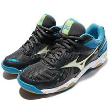 Mizuno Wave Twister 4 Black Blue Men Badminton Volleyball Indoor V1GA15-7073