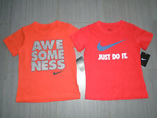 New Boy Nike Just Do It Awesomeness Short Sleeve T-shirt Size 6-7 MSRP$17-18