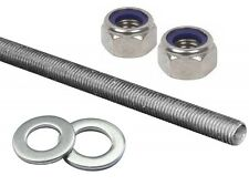 M16 THREADED ROD BAR ZINC PLATED STUDDING FULLY THREADED MILD STEEL (VALUE PACK)