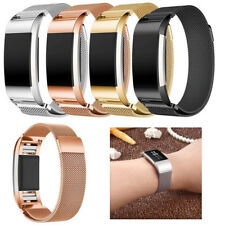 Luxury Milanese Stainless Steel Band Strap connector For Fitbit Charge 2 Watch