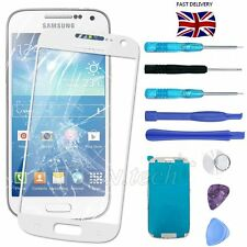 For Samsung Galaxy S4 Mini Broken White Front Screen Glass Replacement &Tool Kit