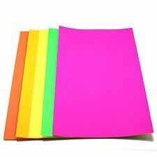Neon Paper A4 Fluorescent 80gsm Sheets Bright Luminous Coloured