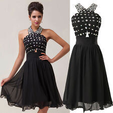 Halter Short Mini Evening Prom dress Ball Gown Bridesmaid Cocktail Party Dresses