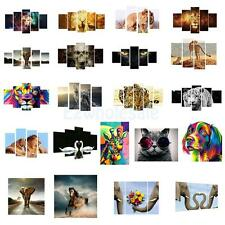 5PCS Art Oil Painting Canvas Print Wall Unframed Picture Home Decor Animal Theme