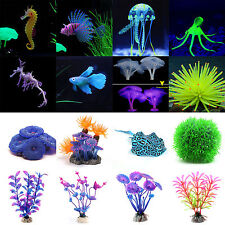 Silicone Aquarium Fish Tank Artificial Water Plant Underwater Ornament Decor New