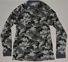 New Under Armour Men's Coldgear L/S Amplify Gray Camo Thermal Waffle Crew Shirt