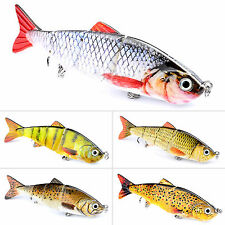 Lot 5PCS Minnow Fishing Lures Hook Bass Crankbaits Tackle Sinking Poppers Lures