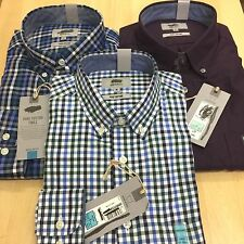 Ex M&S  PURE COTTON Mens  GINGHAM CHECKED  Button Down Smart Casual SHIRTS
