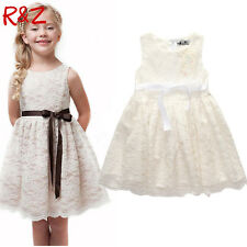 girls beautiful Lace Dress Quality Baby Girls Dress Teenager Kids Dress For age