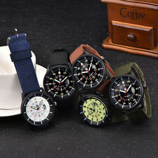 Military Mens Fashion Stainless Steel Watch Luminous Dial Date Sport Wrist Watch