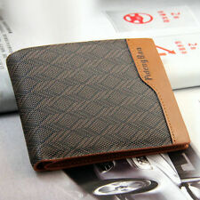 New Men PU Leather High Quanlity Wallet Pockets Card Clutch Cente Bifold Purse