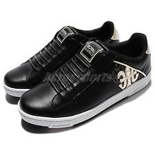 Royal Elastics Icon 1701 Black Gold Leather Men Casual Shoes Sneakers 02071-993