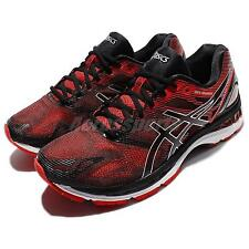 Asics Gel-Nimbus 19 Red Black Men Running Shoes Sneakers Trainers T700N-9023