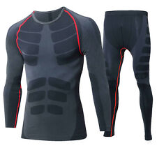 Men's Quick Dry Compression Shirts and Pants for Fitness Training and Running