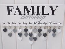 Family Birthday Reminder Plaque Board Calendar Mothers Day Gift