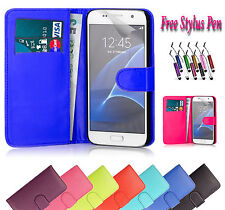 PU Magnetic Wallet Leather Case Cover Holder Stand ID For Samsung Galaxy S7 UK
