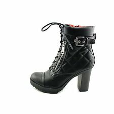 G By Guess Grazie Quilted Heeled Combat Boots