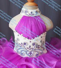 INFANT/TODDLER/BABY/CHILDREN/KIDS LACE CRYSTAL BEADED PAGEANT PARTY DRESS G100-2