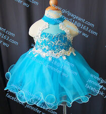 INFANT/TODDLER/BABY/CHILDREN/KIDS LACE CRYSTAL BEADED PAGEANT PARTY DRESS G035-5
