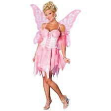 Pink Fairy Costume Adult Halloween Fancy Dress