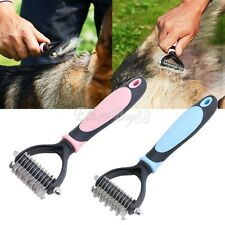 Pet Dog Cat Grooming Cleaning Slicker 2 Sides Brush Comb Shedding Tools Hair Fur