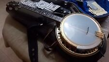 Vtg Fender Custom Concertone Tenor Banjo Gold Plated near mint CLASSIC w/case