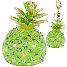 Rhinestone Crystal Fun Pineapple Handbag Purse Charms Keychains Accessories lot