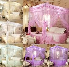 Lace Four Corner Post Bed Canopy Mosquito Netting Or Frame Post All Size