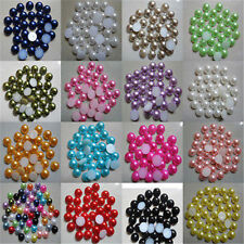 2000pcs Half Pearl Round Bead Flat Back 4mm Scrapbook for Craft FlatBack