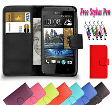 PU Magnetic Wallet Flip Leather Book Case Holder Cover For HTC Desire 626 UK